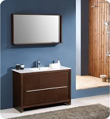 Wenge Bathroom Mirror Fresca Fvn8148wg Allier 48 Modern Bathroom Vanity With Mirror In