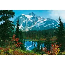 ideal decor 100 in x 144 in mountain morning wall mural dm211 mountain morning wall mural