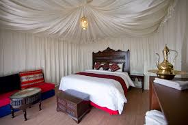 king size luxury tent wadi rum night