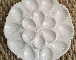 ceramic deviled egg plate deviled egg tray etsy