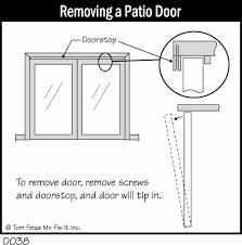 Removing A Patio Door Patio Door Sticks In Winter Misterfix It