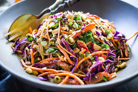 noodle salad recipes thai noodle salad with the best ever peanut sauce feasting at home