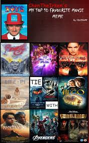 Meme Movies - my top 10 favorite movies meme by chentheirken on deviantart