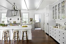 uncategories dark wood floors with light cabinets red kitchen