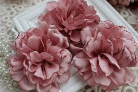 fabric flowers pink chiffon flower soft chiffon fabric flowers bridal