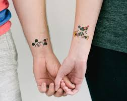3 mickey and minnie temporary tattoos geektat