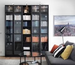Hemnes Sofa Table Black Brown Bookshelf Amusing Ikea Narrow Bookcase Furniture Exciting Narrow