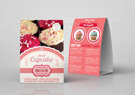 cupcake table tent template by owpictures graphicriver