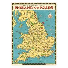Map Of British Isles Map Of The British Isles Wrapping Paper National Gallery Shop