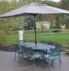 Woodard Landgrave Patio Furniture - cast classics landgrave cast aluminum patio set table 8 chairs