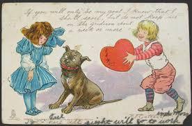 brown valentines buster brown postcard r f outcault vintage postcards