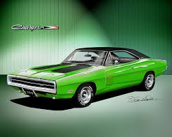 1970 dodge charger green 1970 1974 dodge charger prints by danny whitfield
