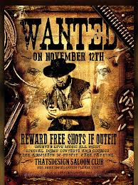20 western wanted poster templates u2013 free printable sample