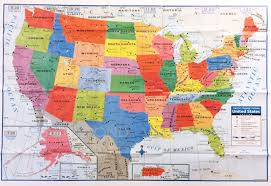 map usa buy united states wall map home school office ebay world political