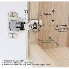 what size screws for kitchen cabinet door hinges decobasics kitchen cabinet hinges â â pack of 2 soft