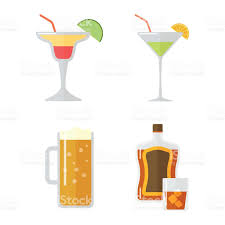 mixed drink clipart set of alcohol drink vector stock vector art 636627876 istock
