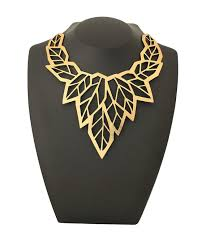 leather gold necklace images High fashion jewelry jewellery geometric leaf gold statement jpg