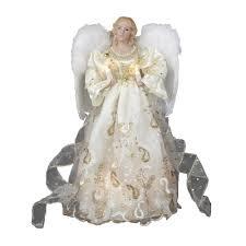 angel christmas tree topper kurt adler ul 10 light 14 inch gold angel treetop