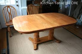 refinish oak kitchen table how to refinish a table sand and sisal