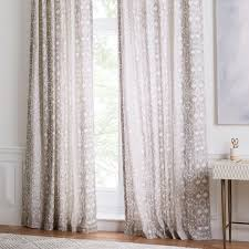 cotton delta ikat curtains set of 2 platinum west elm