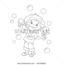 coloring outline cartoon juggling stock vector 424590403