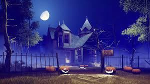 jack o lantern halloween pumpkins on the trail leading to