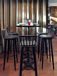 contemporary bar stools to bring harmony in open kitchen space