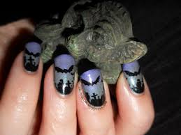 glow in the dark halloween spooky bat nail art the adorned claw