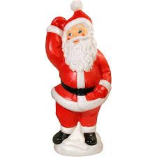 Outdoor Lighted Santa