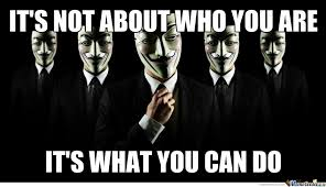 Anonymous Meme - you have more power by being anonymous by recyclebin meme center