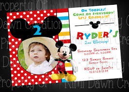 mickey mouse birthday invitation template u2013 15 free psd vector