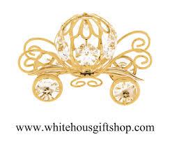 pumpkin carriage ornament gold pumpkin carriage ornament or desk model wheels