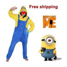 free shipping despicable me cute footed pajamas for women