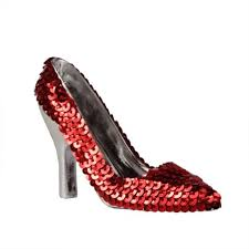 3 5 fashion avenue sequined high heel shoe ornament