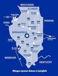 of illinois map map of illinois about of illinois springfield uis