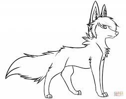 cute wolf coloring pages qlyview com