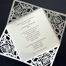 laser cut invitations quadfold laser cut invitation