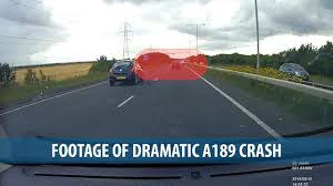 dramatic footage taken on the spine road shows high speed crash