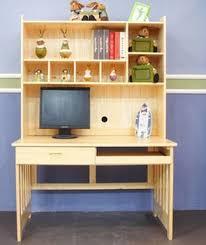 Pine Wood Bookshelf Wood Bookcase Desk Wood Computer Desk Study Table Desk Combination