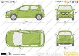opel karl 2015 the blueprints com vector drawing opel karl