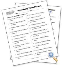 identifying verb phrases worksheetworks com teaching