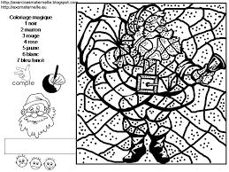 Coloriage magique noel cycle 2  Laborde yves