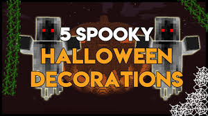 How To Make Simple Halloween Decorations Minecraft How To Make Simple Halloween Decorations Youtube