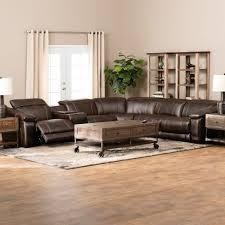 latest reclining leather sectional sofa divani casa e9054 modern