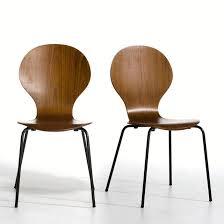 chaise redoute chaise empilable lot de 2 watford la redoute interieurs la redoute