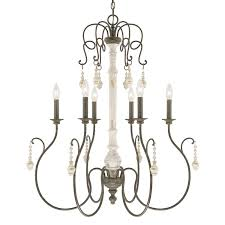 Country French Chandelier by Capital Lighting 410362fc Vineyard 6 Light Chandelier In French