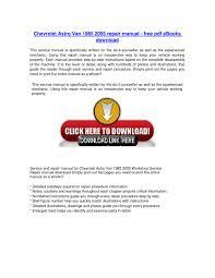 chevrolet astro van 1985 2005 repair manual free pdf ebooks