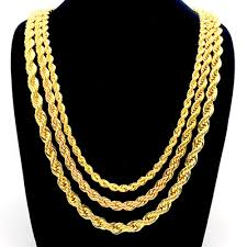 golden rope necklace images Rope chain necklace yellow gold filled twisted knot chain 3mm 5mm jpg