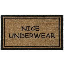funny doormats amazon com rubber cal nice underwear funny doormat coco fiber