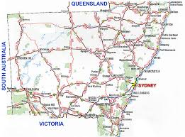 map of new south wales new south wales road map nsw